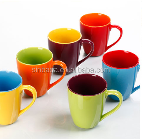 ceramic solid color inside and outside coffee mug