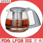 Factory directly OEM&ODM plastic handle tea kettle glass teapot stainless steel glass tea pot