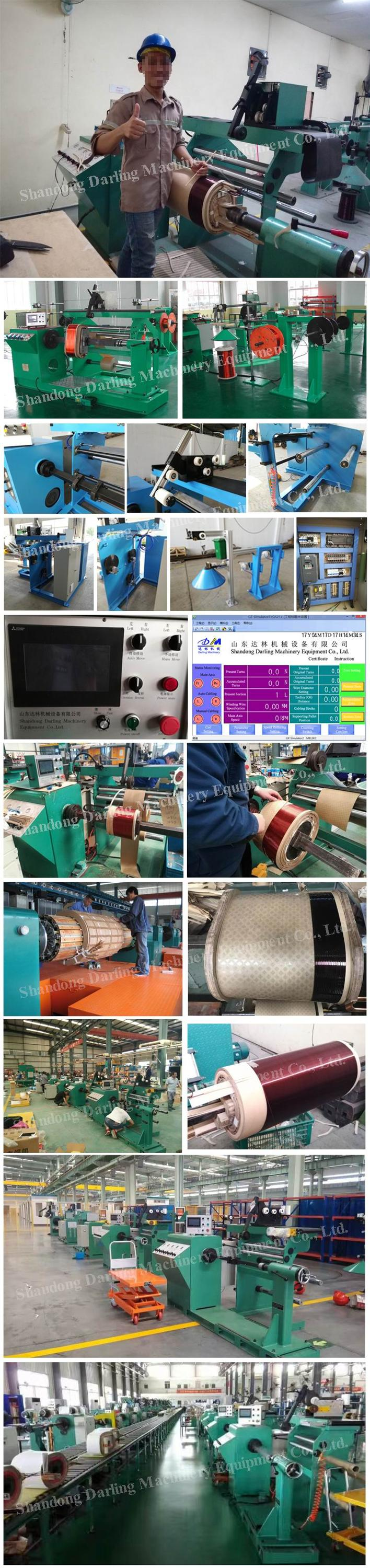 PLC control automatic GRX-800 transformer coil winding machine  for high voltage coil