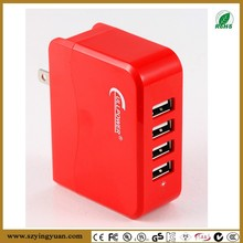 4 Ports Smart Fast USB Charger Station for Iphone and Andriod Mobile Phone and Tablet and Music Player Devices