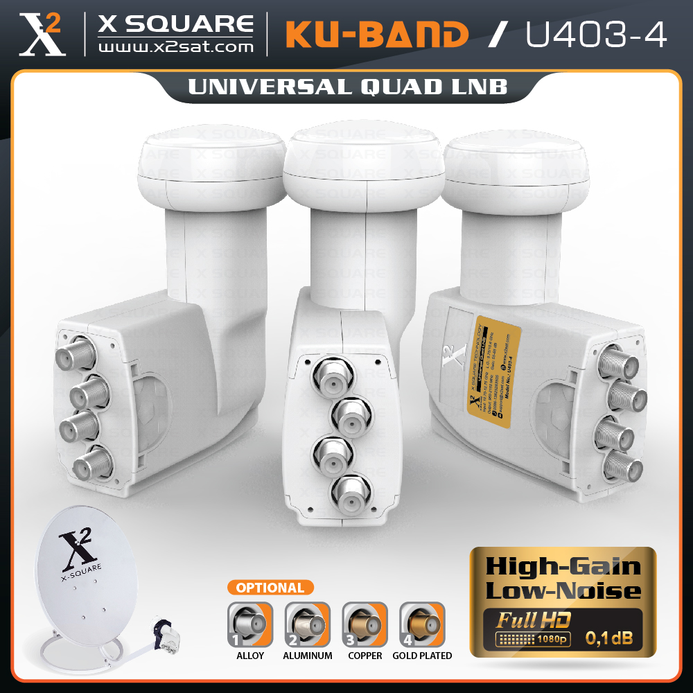 2017 dish tv quad lnb ku band of X2