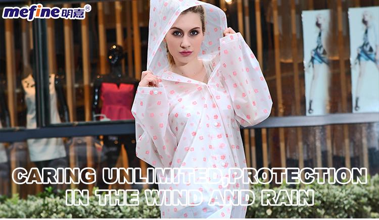 คุณภาพสูงกันน้ำผู้ใหญ่ EVA แฟชั่นคุณภาพสูงชุดเสื้อกันฝน Clear Rainwear