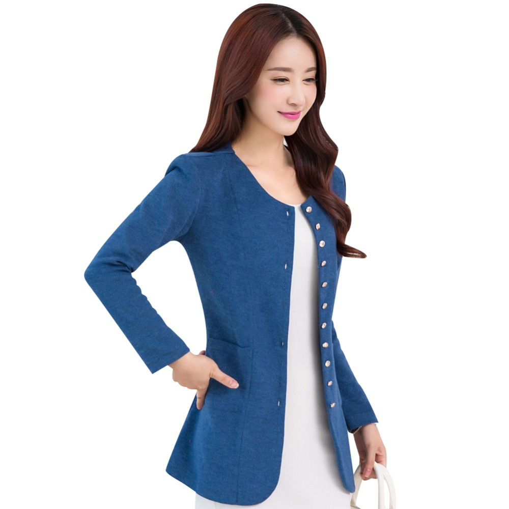 O-Neck Design Lady Casual Slim Trench Large Size M-4XL 2015 New Autumn Korean Style Single Breasted Woman Fashion Clothing