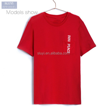 Apparel Online Shopping Cheap Custom Embroidery Slogan Trendy Red