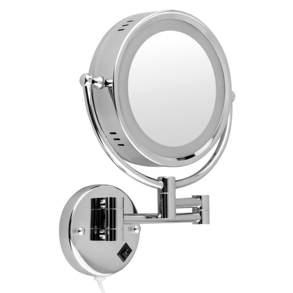 Cheap Lighted Wall Mounted Makeup Mirror 10x Find Lighted Wall