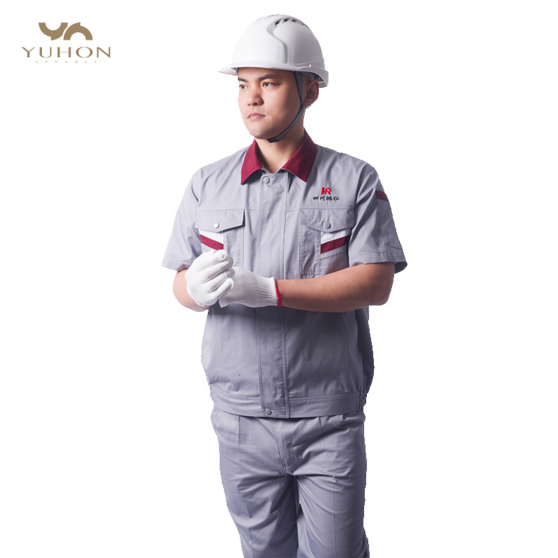 2019 Hot Sale wholesale unisex engineering workwear mechanical short sleeve uniform labor insurance clothes