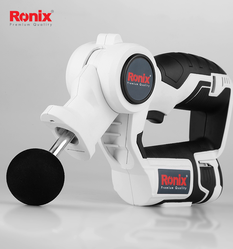Ronix 12V Cordless Body Electric Mini Portable Massage Machine Health Massager Products Massage Gun Without Noise