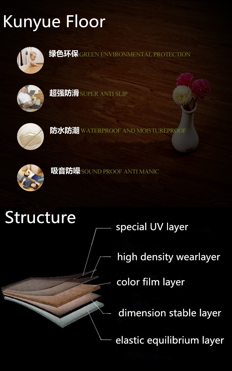 March promotion new design marble stone design LVT vinyl floor tile