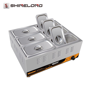 Shinelong Manufacture 2017 Wholesale Price 1 3 6 Pans Electric Food Warmer Buffet Bain Marie