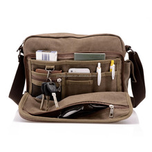 ZW209 Vintage Canvas Satchel <span class=keywords><strong>Messenger</strong></span> Laptop <span class=keywords><strong>Schouder</strong></span> Crossbody Sling Bag