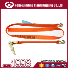Yellow color cheap price 50mm ratchet tie down buckle strap