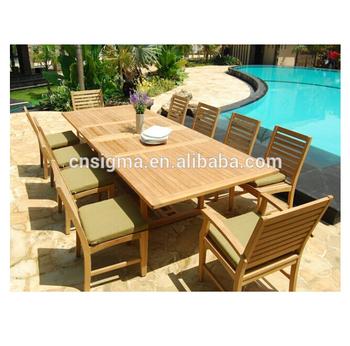 Gartenmöbel Outdoor Teakholz Speisesaal Langen Holz Tisch Und Stühlen