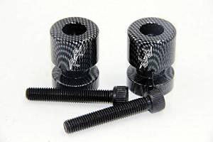 """HTT Carbin Fiber Swingarm Spools """"RR"""" Engraved Logo 8mm For Honda CBR600RR 2003-2011/ Honda CBR900RR 2002-2003"""