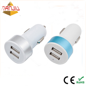 5V 3.1A Dual Ports Mini Handy Power Car Charger For Mobile Phone/Camer