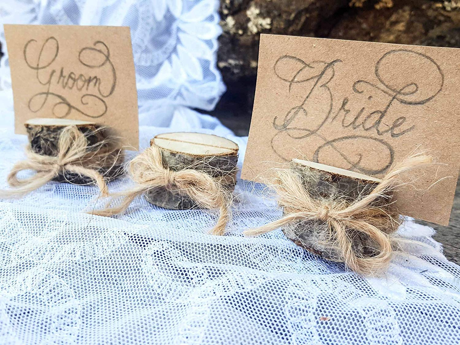 Set of 10 deciduous tree branch place card holders, name card holders, rustic wood card holder, shabby chic, wood card holder, 10 card holders, Scandinavian card holders, natural card holders