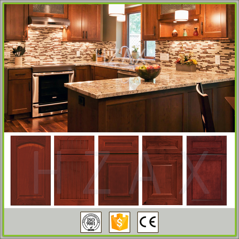 Good Quality Cherry Solid Wood Designs of Kitchen Hanging Cabinets