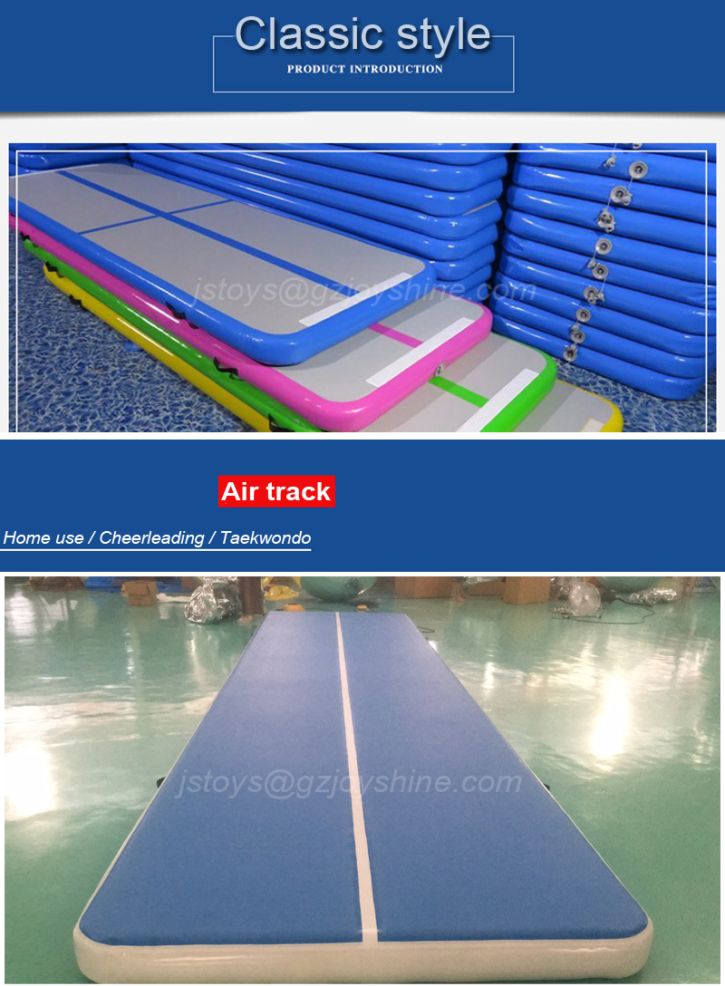 Cheap 10m x 2m Long Airtrack Mats Blue Inflatable Air Track Gymnastic Tumbling Floor Gym Mat Exercise Mat
