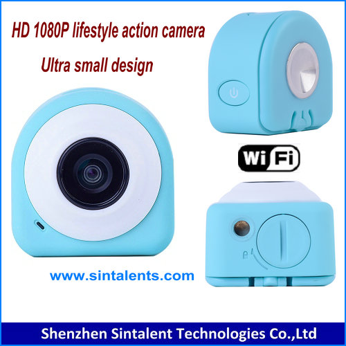 Foldable Magnetism Mini HD 1080P H.264 WiFi 8.0MP Cam Selfie Lifestyle Action Sports Camera with Remote Control