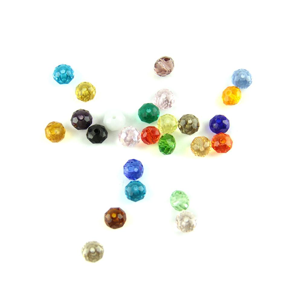 Lila Oscuro 4MM-Artesanía//jewelly 1 filamento Facetas Rondelle Cuentas De Vidrio-Rose