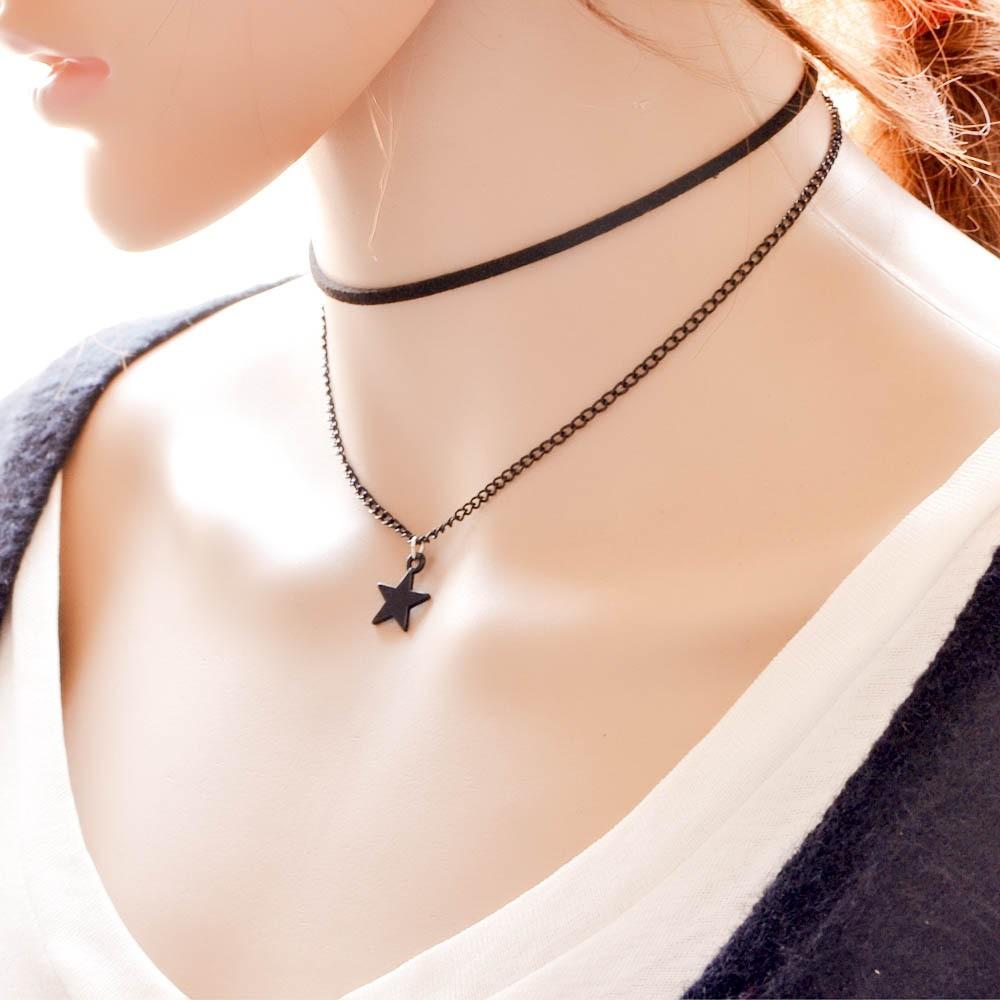 f1d71b05cca98 Women Jewelry Black Star Pendant Velvet Collar Chokers Necklace - Buy  Leather Chokers Collar Necklace,Chokers Collar Necklaces Womens,Heavy  Chokers ...
