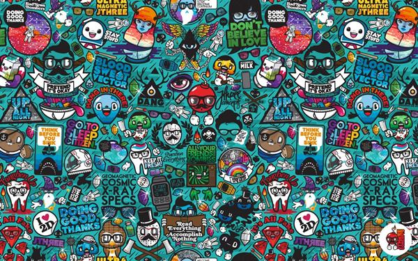 vector xray hipster characters concepts Home Decoration Canvas Fabric Poster Print