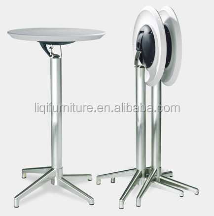 Fashion Modern Outdoor Folded Abs Top Brushed Aluminum High Cocktail Table  Bar Table Lq  Bt309   Buy Foldable High Top Cocktail Tables,Commercial High  Top ...