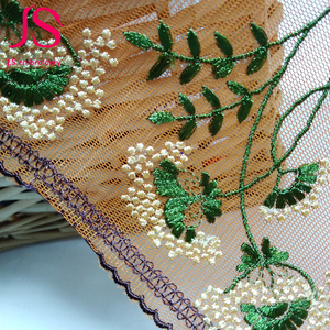 Wonderful gold bridal silk fabric lace material by the yard