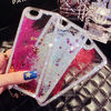 New Arrival Cell Phone Case for iPhone 5, Transparent Hard Plastic Bling 3D Moving Liquid Glitter Rhinestone Case