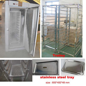 Quick freezer with double trolleys