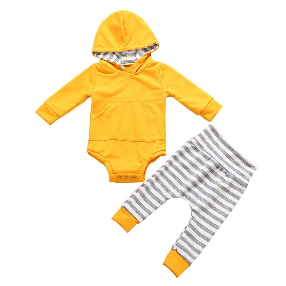FORESTIME 2PCS Winter Casual Toddler Baby Boys Girls Deer Print Hoodie Tops+Pants Outfits