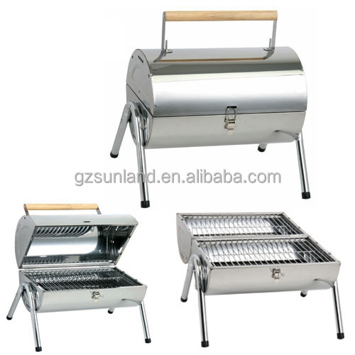 small size large cooking area stainless steel charcoal bbq grill - Stainless Steel Charcoal Grill