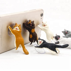 Mobile Phone Holders Sucker Cat Phone Stand