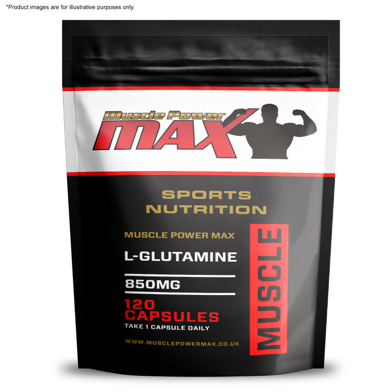 Muscle Power Max Foil Pack L-glutamine 850mg High Strength Capsule ...