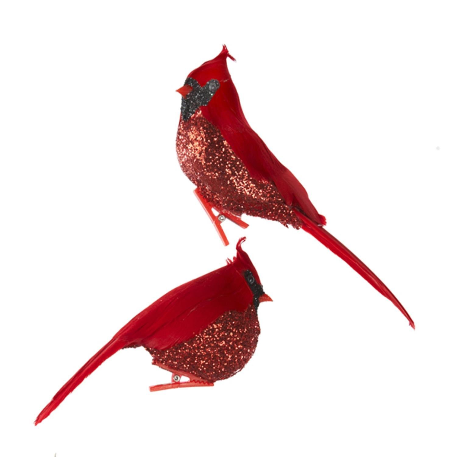 buy club pack of 12 glittered red cardinal bird clip on christmas ornaments in cheap price on malibabacom