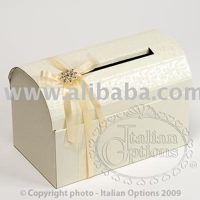 Diamante Posting Box for wedding gift cards & envelopes