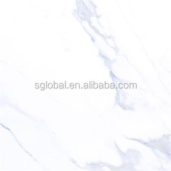 Calacatta White Marble Inkjet Full Polished Porcelain Floor Tile