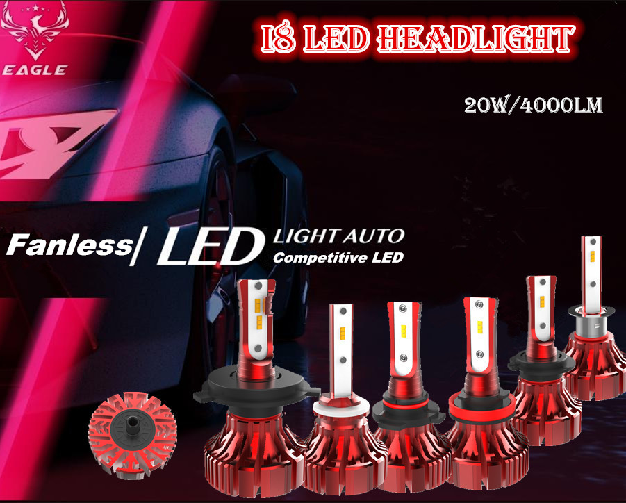 I8 Fanless Mini LED Headlight