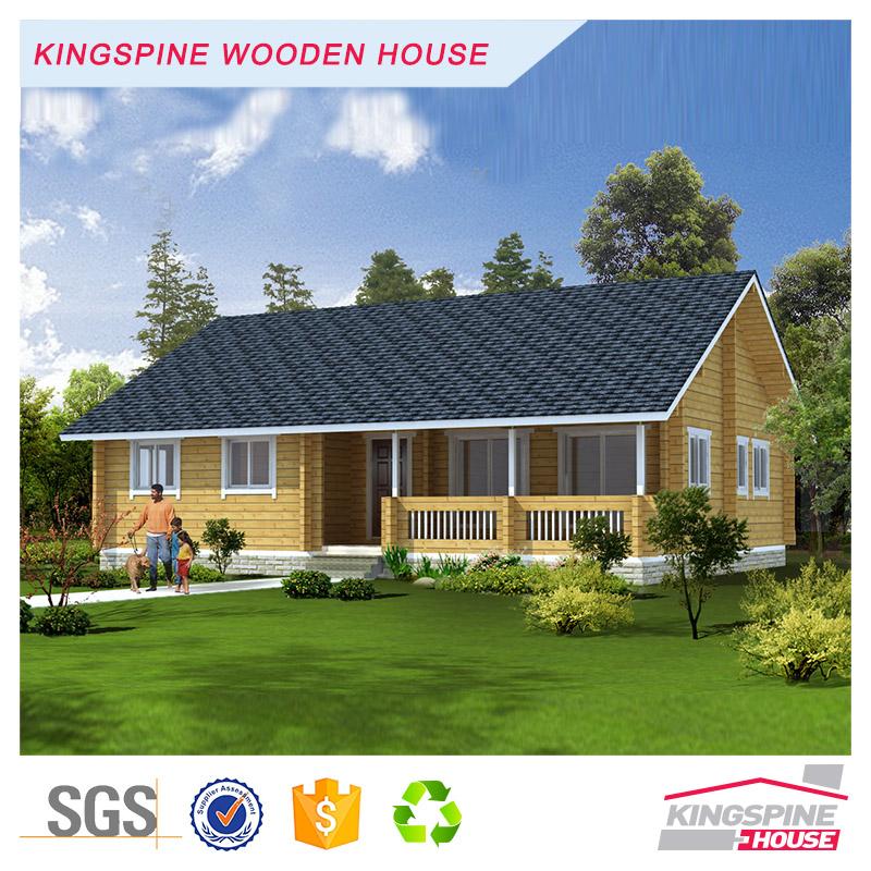 Indian Three-bedroom Prefabricated Wood Home Log Cabin Low