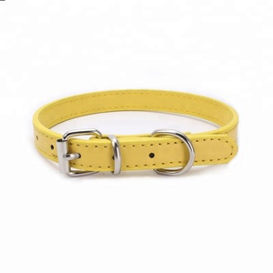 Unique pet collars supplies puppy id name tag leather dog collars