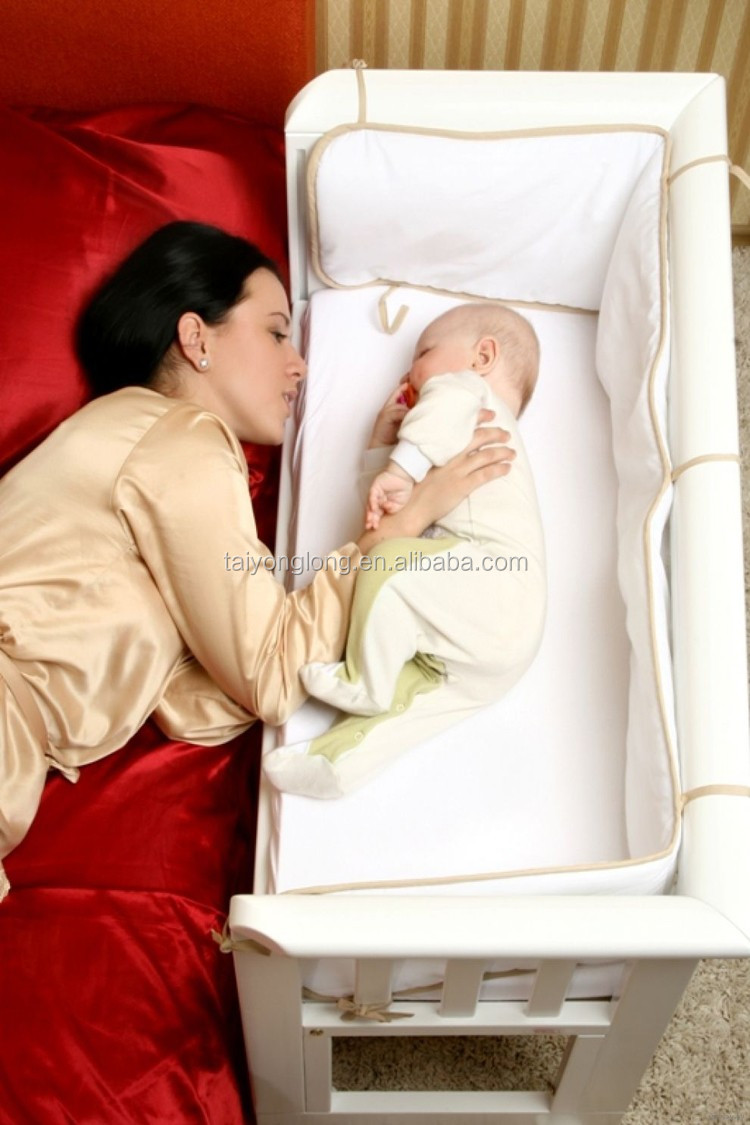 Baby cribs that attach to bed - Factory Price Baby Crib Attached Bed Extender For Baby Cot Bed