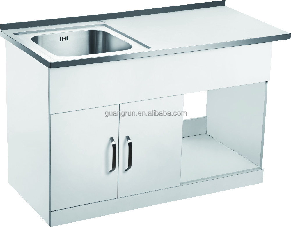 Free Standing Commercial Stainless Steel Laundry Tub Cabinet With ...