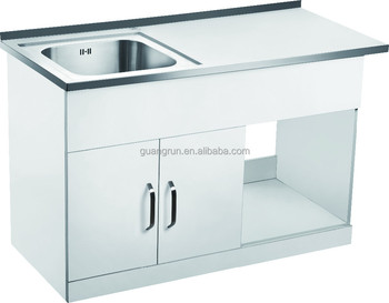 Ordinaire Free Standing Commercial Stainless Steel Laundry Tub Cabinet With Drainboard  GR 300A