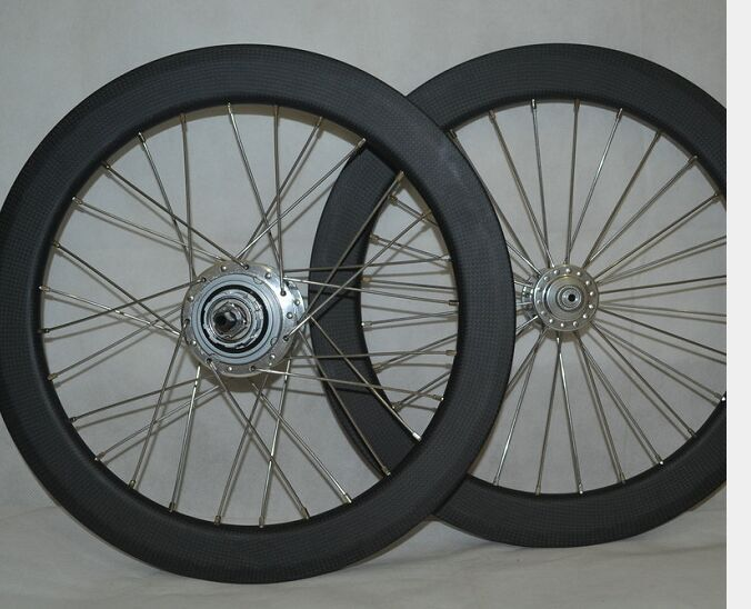 23mm wide clincher 28H 16inch 349 carbon BMX wheels 38mm