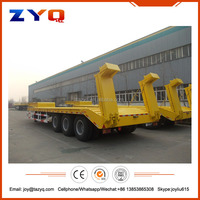 ZYQ 3 axles 60 ton lowbed trailer, low bed truck trailer