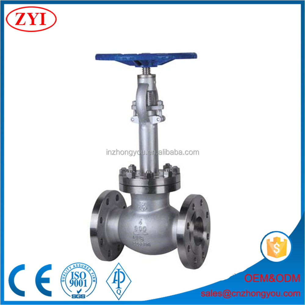 Long time warranty cryogenic globe valve with stem extension