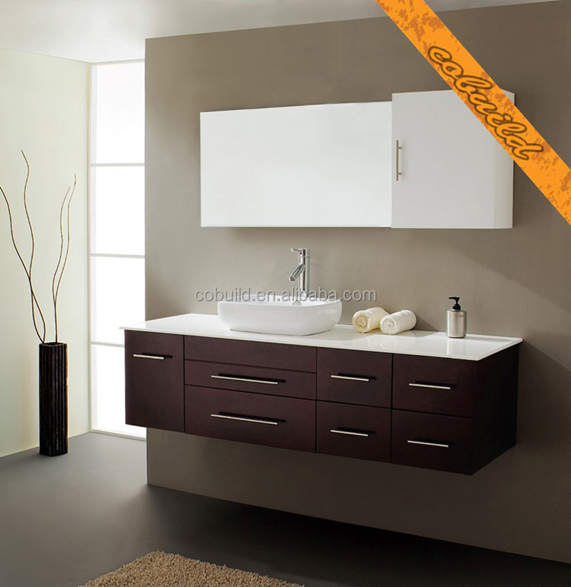 Awesome Modern Wall Hung Bathroom Cabinet With Mirror Mounted Vanity Side Um