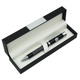 RCGS-033 Attracted Royal Style Heavy Twist Ballpoint Promotional Gift Set Pen Silver Trims Metal Black Red Ball Pens