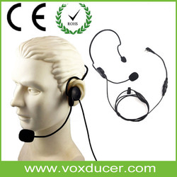 Voxducer Single Side Headphone with Mic Call Center China PTT Headphone Speaker
