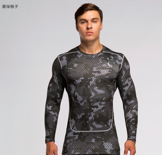 Europe style printed long sleeve camo rash guard
