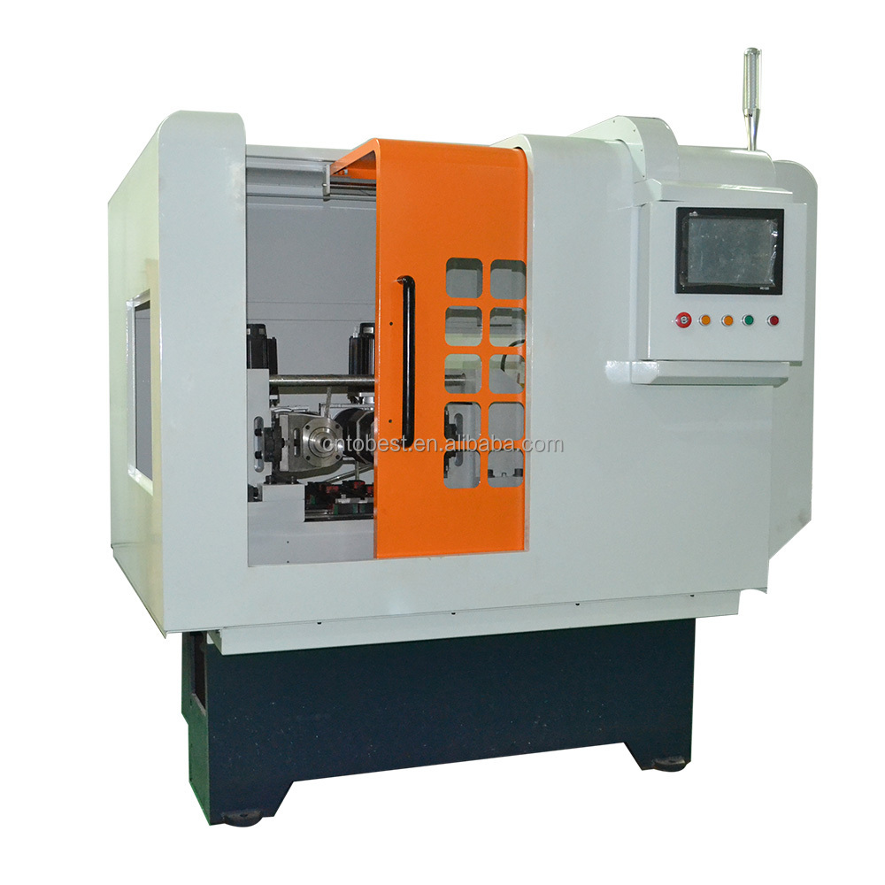 cnc lathe machine thread rolling machine bolts making machine
